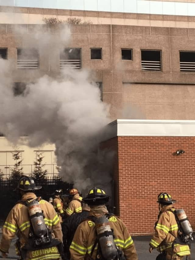 The first blaze happened at 3:25 p.m. at an apartment building at 75 Tresser Blvd.