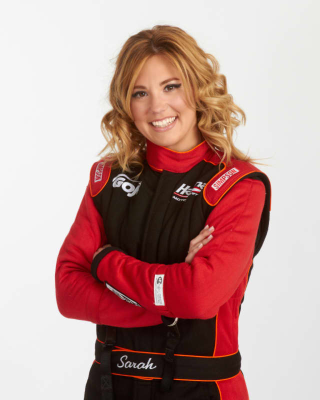 Stamford resident Sarah Edwards recently made her debut as a professional dragster racer.