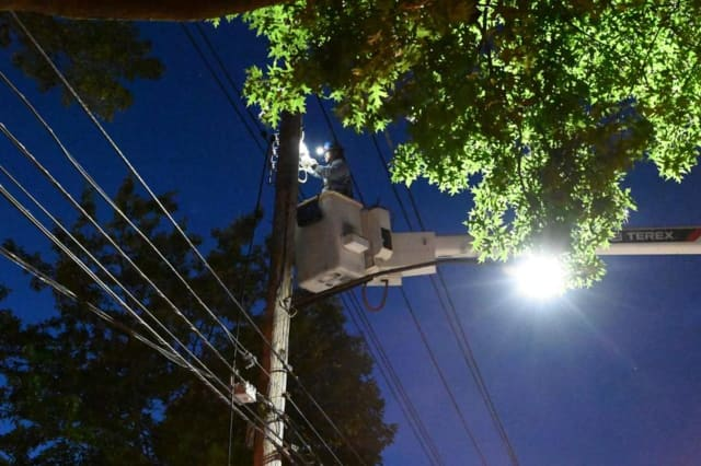 Utility crews worked through the night to restore power in the Hudson Valley.