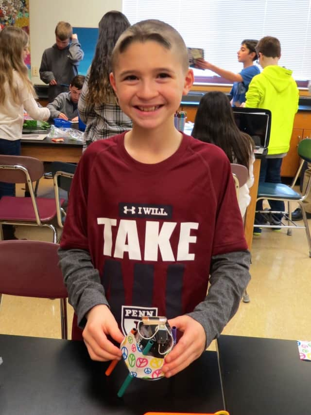 Briarcliff Middle School sixth-grade students created electrical circuits and magnetic objects during the school's second Electricity and Magnetism Maker Faire.