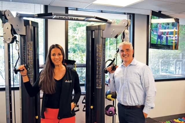 Pamela Fioretti and Steve Melchionno at Elevate Physical Therapy.