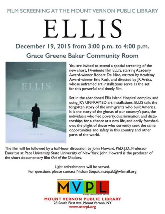"""Ellis,"" stars Robert De Niro."