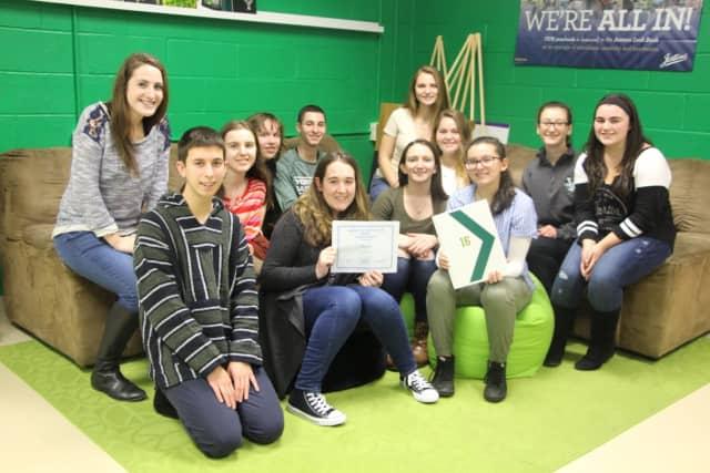 Members of the Yorktown High School's Yearbook Club.