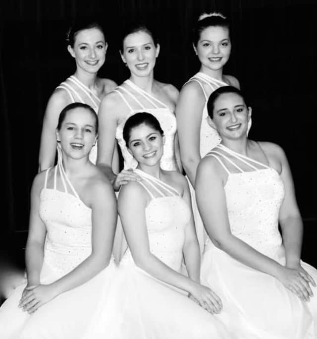 Graduating seniors from Jean Cobelli's Enchanted Garden School of Dance: Top - from left, Erin Desimone, Katie Hackett and Grace Jeffries; bottom - from left, Ruby Verbitsky, Cassie Pavain and Hannah Latorre