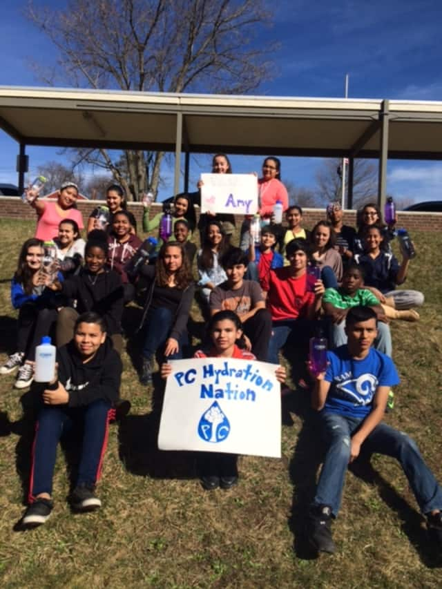 """Port Chester Middle School students created the winning project, """"PC Hydration Nation."""""""