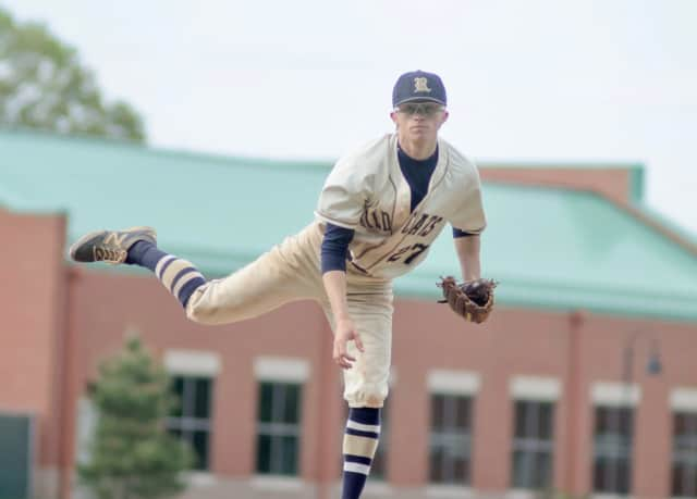 Enzo Stefanoni of Darien broke the New York state reocrd for most all-time high school varsity pitching wins