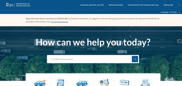 The new Connecticut DMV website makes it more accessible to users.