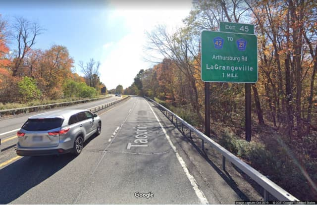 The New York State Department of Transportation said the roadway will be closed along the southbound lanes between Exit 47 and Exit 45 in the town of Lagrangeville.