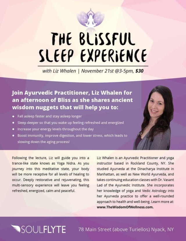 Topics will include boosting immunity and digestion through better sleep.