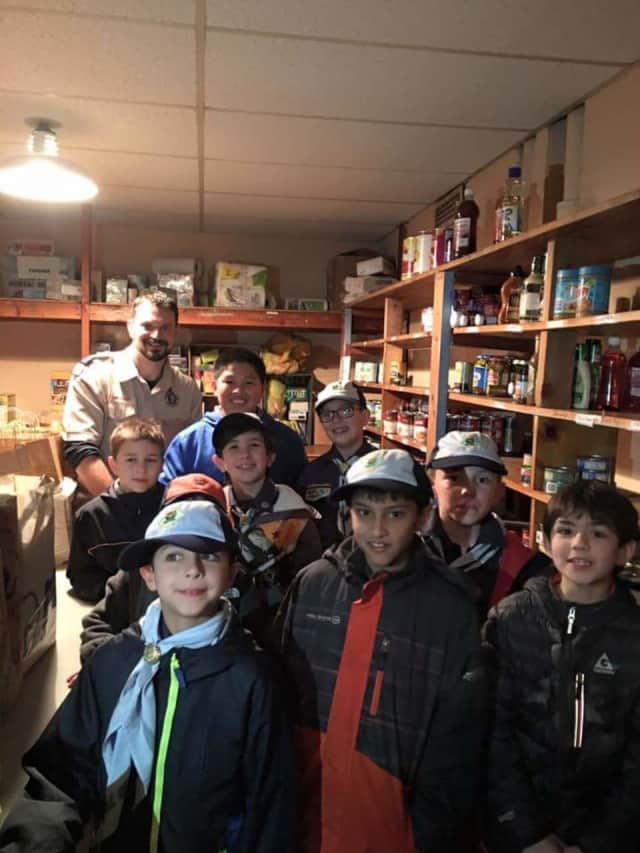 Fair Lawn Cub Scouts Donate 130 Pounds Of Food To Local Pantry.