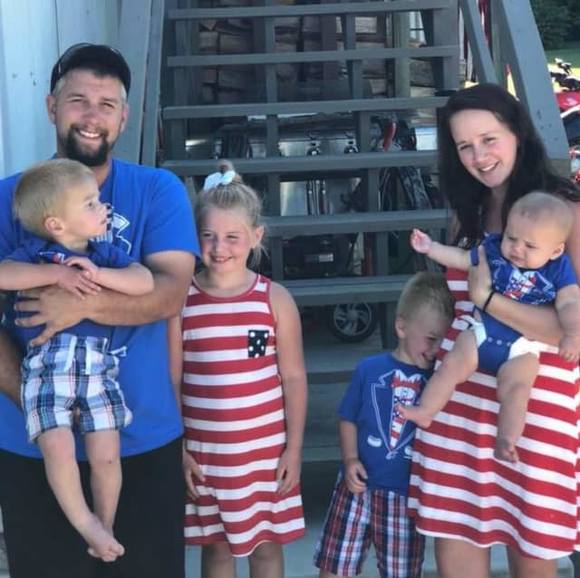 Cody Wilson with his family.
