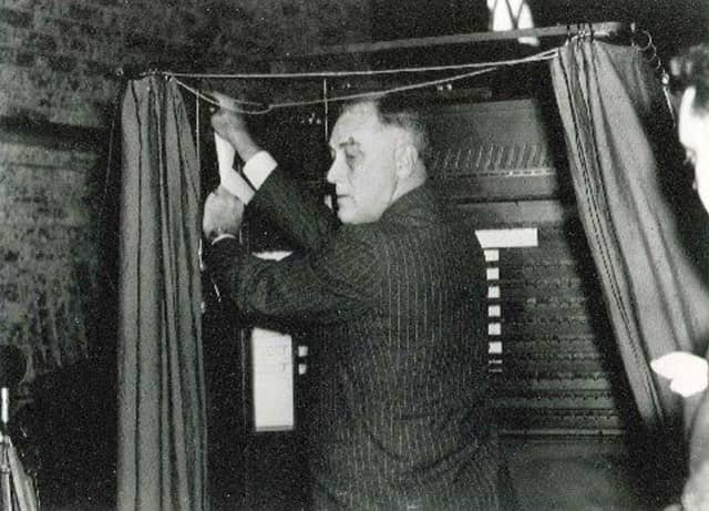 The museum houses the voting machine that Franklin Delano Roosevelt used in 1932 when he ran against President Herbert Hoover.
