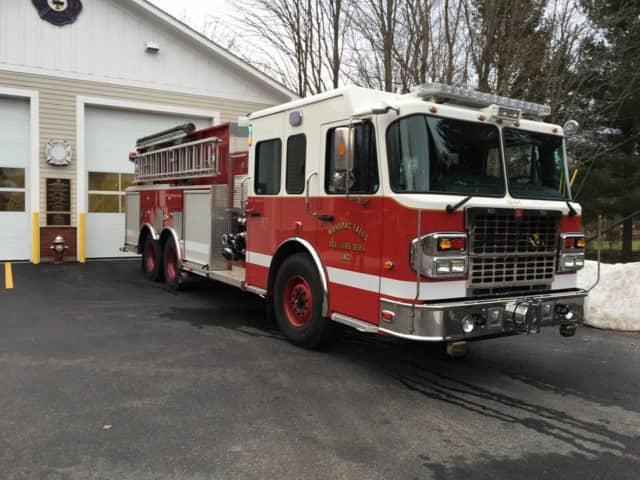 The new Mahopac Falls Fire Department firetruck.