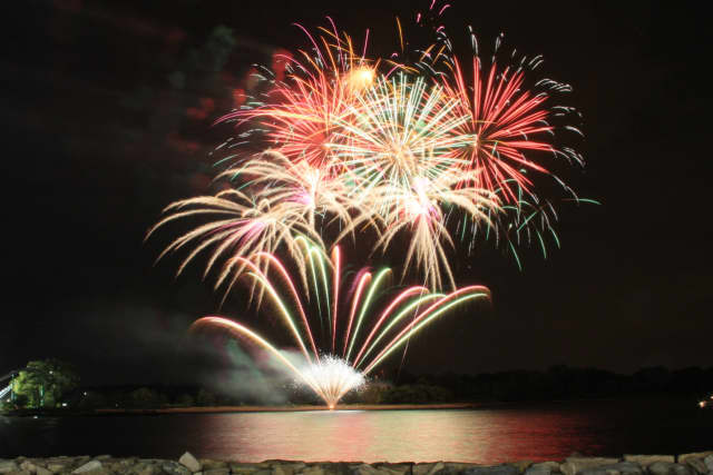 Fireworks at Rye Playland.