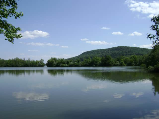 A view of High Mountain from Franklin Lakes Nature Preserve.