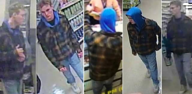 Authorities asked that anyone who knows the robber, sees him or has information that might help catch him call Franklin Lakes police: (201) 891-3131.