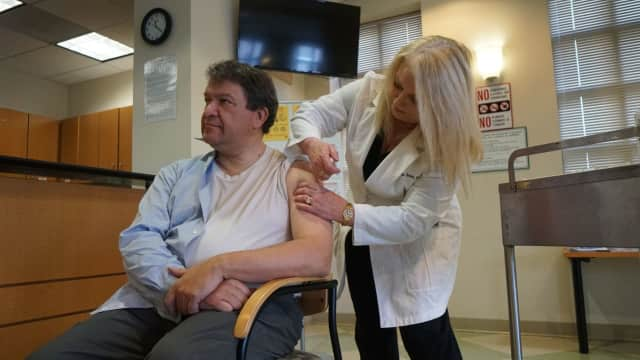 Westchester County Executive George Latimer received his flu shot on Jan. 30, saying it's never too late to reduce your chances of being a victim in the current epidemic, which continues to ramp up with increased serious cases.