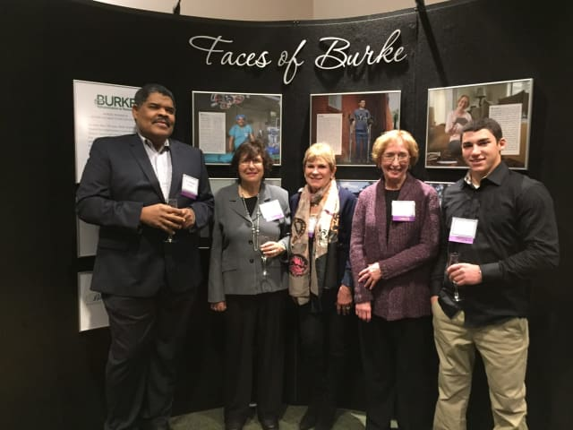 Five of the Faces of Burke participants (from left to right): Dr. Ronald Verrier of Long Island, Barbara Kessler of Scarsdale, Barbara Baratta of Greenwich, Susan Rice of Yonkers and Max Gomez of New Rochelle.