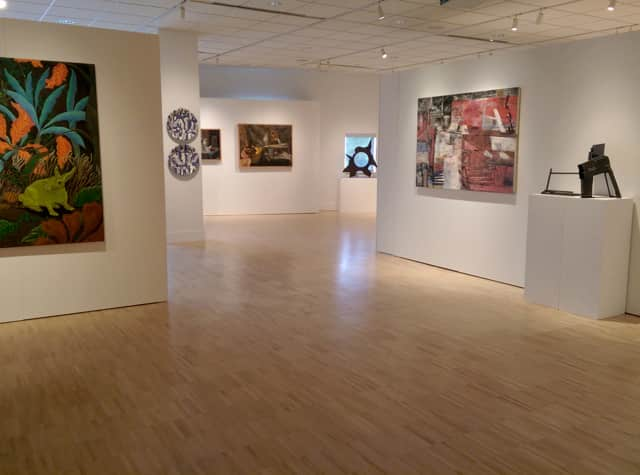 Works by Western Connecticut State University art faculty are on display at the Art Gallery at the Visual and Performing Arts Center on the university's Westside campus in Danbury.