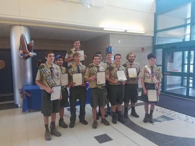 New Fairfield has 10 new Eagle Scouts from Troop 137.