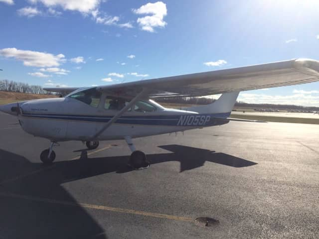 Connecticut state troopers will be using this Cessna 182 Skylane to spot traffic violations from the air this Thanksgiving holiday.
