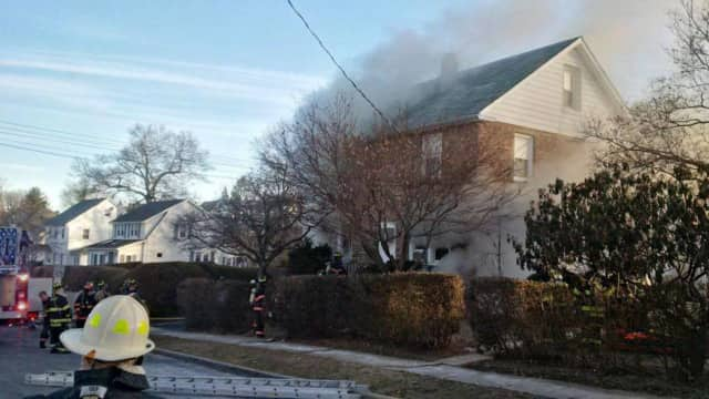 A home on St Marks Place in Mount Kisco was the scene of a fatal fire on Wednesday, Jan. 20, 2016.