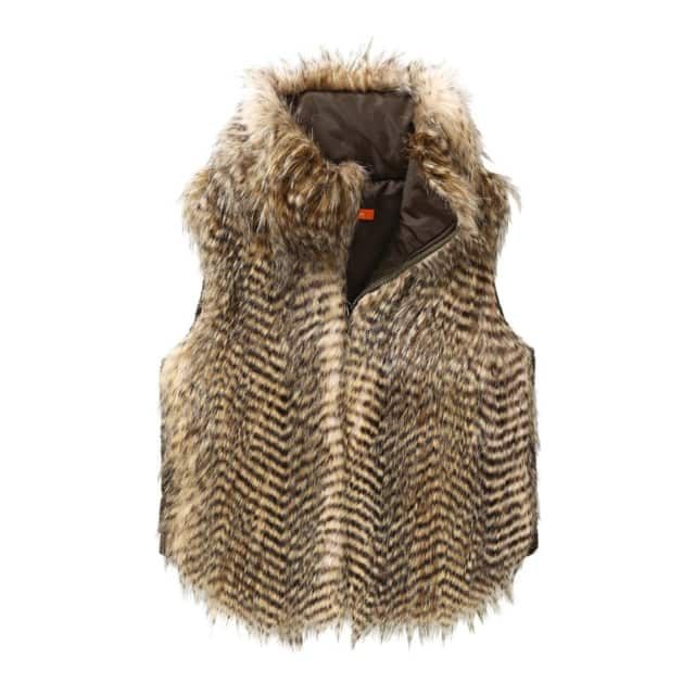 No animals were harmed in the making of this furry vest, one of the faux fabric garments and accessories that seem to be on every Rye shopper's gift list.