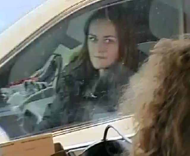 "Weston, Mass., police have released this picture of a suspect in the ""Felony Lane Gang"" thefts. The woman allegedly cashed stolen checks worth more than $6,000. The gang may be operating in the Rockland County area, local authorities say."