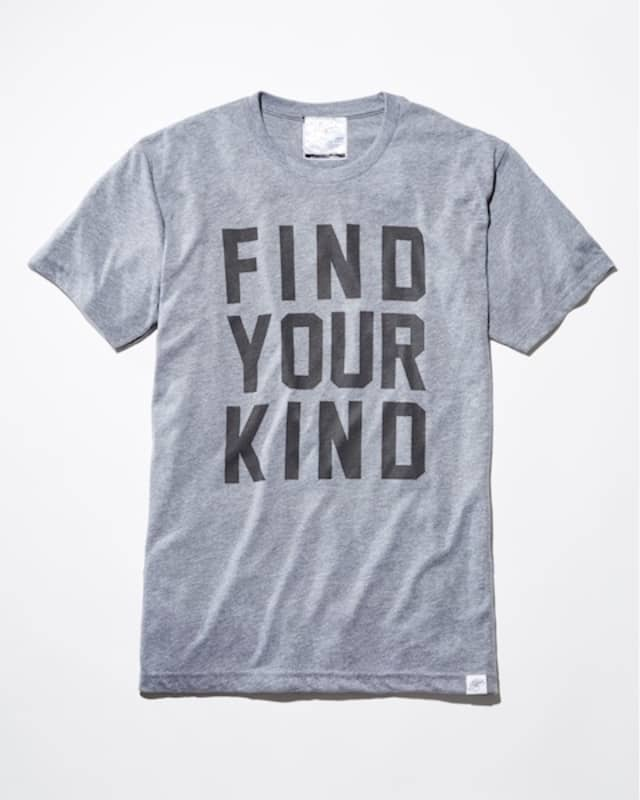 The capsule collection T-shirts range from $28 to $39 with 10 percent of sales benefitting the Kind Campaign.