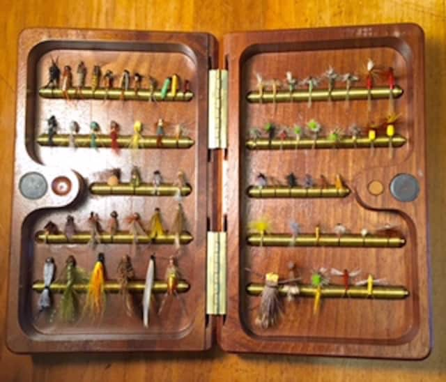 Fly Case. Learn to Tie Flies on Tuesday, April 26, at 7 p.m. in the Meeting Room at the C.H. Booth Library, 25 Main St. in Newtown.