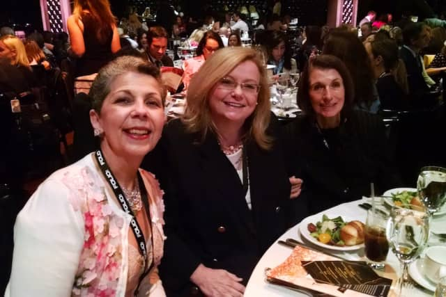 Georgette Gouveia, Robin Costello and Dee DelBello, from left, at the 2018 Folio Women in Media Awards.