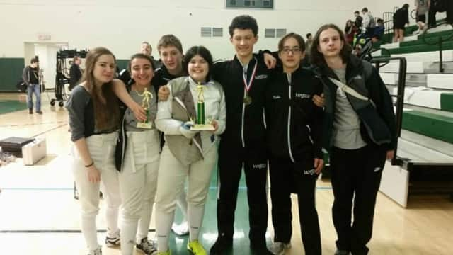Way of the Sword competitors at the Connecticut High School Novice Fencing Tournament. See story for identifications and schools.