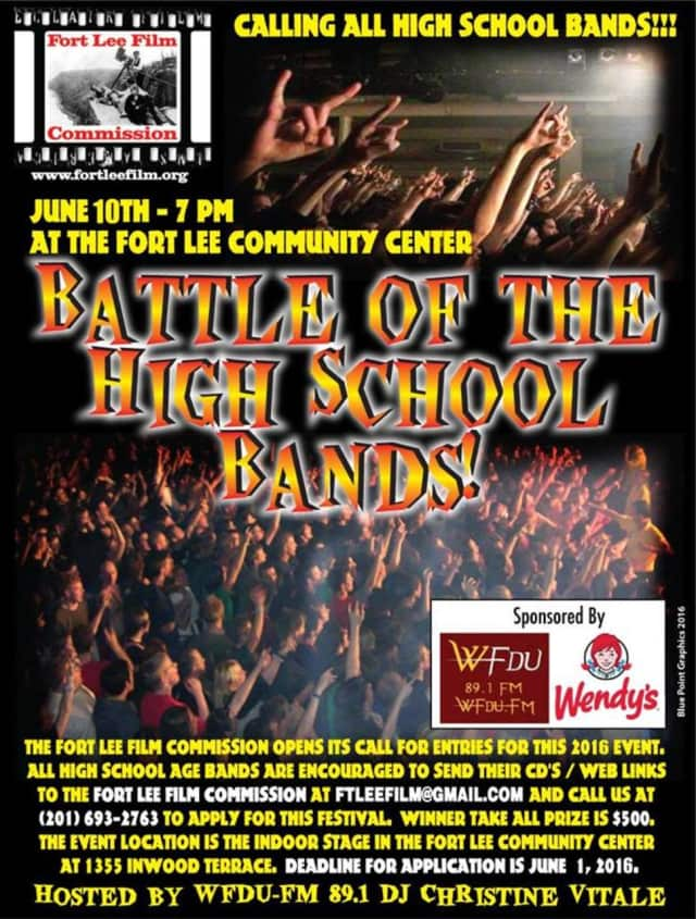 Tri-state-area bands will go head to head in the Fort Lee Film Commission's annual Battle of the High School Bands June 10 at the Fort Lee Community Center.