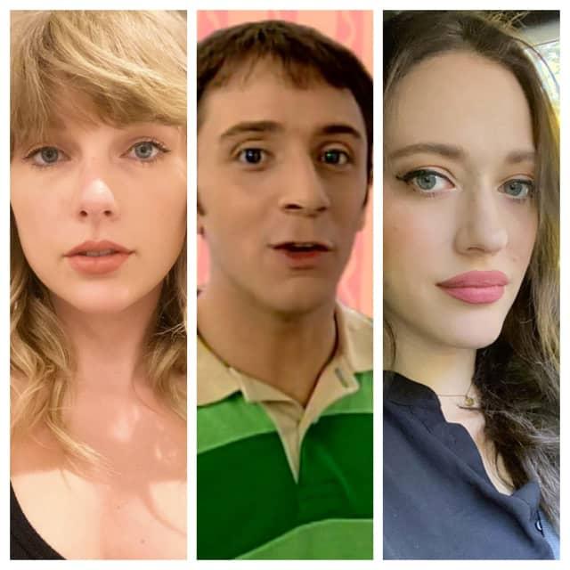 (L-R): Taylor Swift, Steve Burns, Kat Dennings