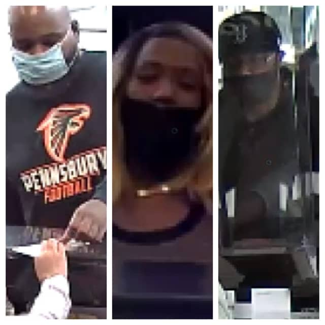 Authorities are seeking the public's help identifying three individuals wanted in a $9,000 check fraud case spanning Pennsylvania and New Jersey.