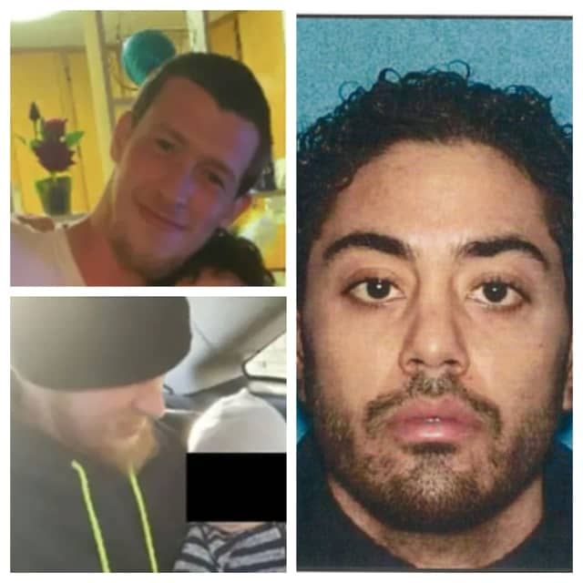 Elvis Santana, right, has been charged with murder in the deadly Bayonne stabbing of Mathew Mortimer.