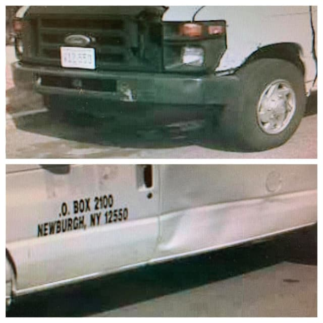 Police in Clark, New Jersey say this van was involved in a hit and run crash Monday