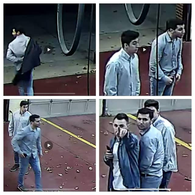 Two of four men suspected of burglarizing a firehouse Friday night turned themselves in, police said.
