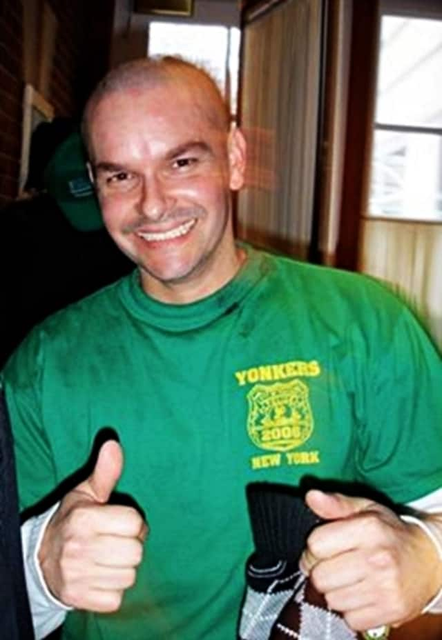 """Det. Frank Fernandez was shaved bald at an event to raise money to assist children with cancer. According to the department's Facebook post, this was """"something very typical of him to participate in throughout the years."""""""