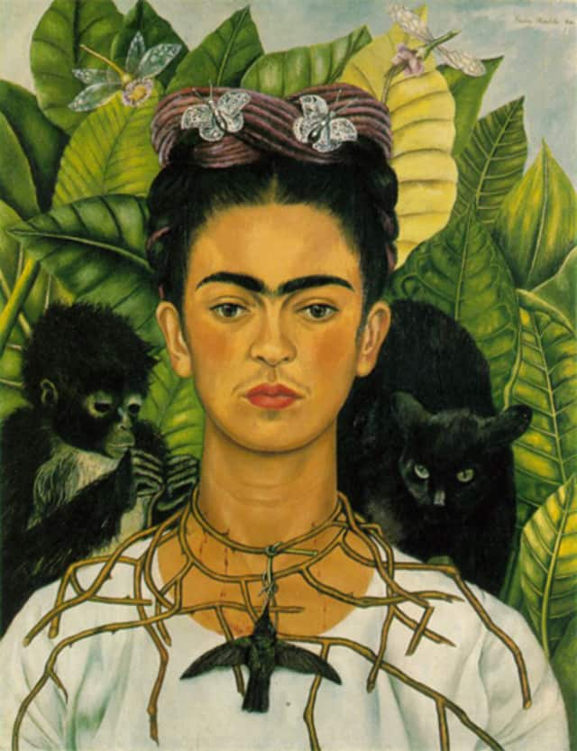 a self-portrait by Frida Kahlo
