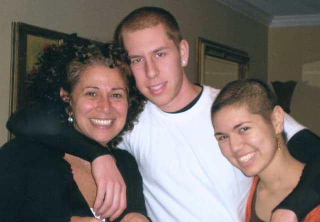 Paula Berkowitz with her son Justin and daugther Adina.