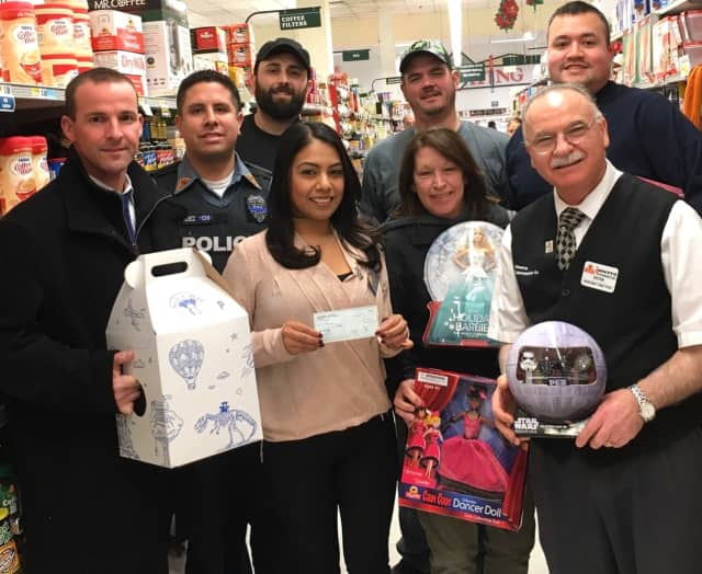 Fair Lawn police met with contributors to this year's Toy Drive.