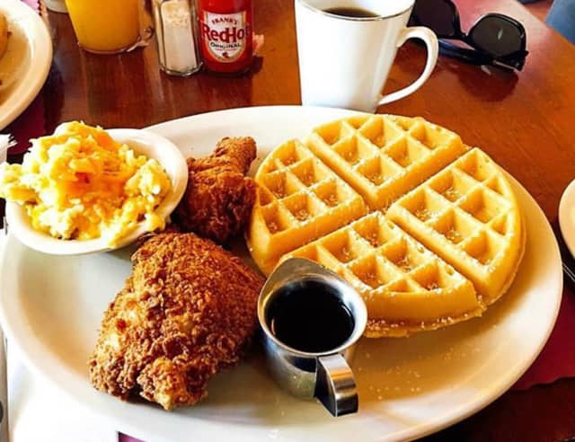 Chicken and Waffles from Kelsey & Kim's Southern Cafe on Melrose Avenue in Atlantic City.