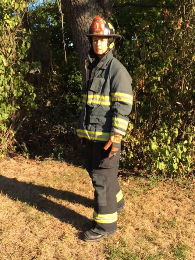 Larchmont resident Robin Nesdale is a volunteer firefighter with the Town of Mamaroneck.
