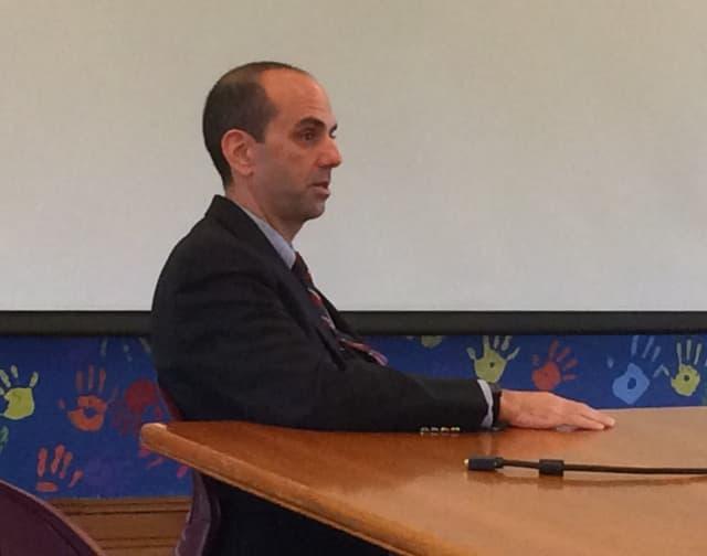 Ramsey Superintendent of Schools Matt Murphy listens to discussion on school issues Wednesday, Dec. 2 in Ridgewood.