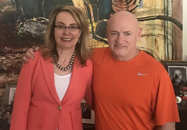 Former Congresswoman Gabby Giffords and her husband Captain Mark Kelly will be in Hackensack Thursday.