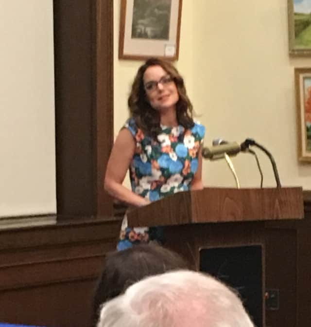 Kimberly Williams-Paisley spoke about her new book that describes her mother's struggles with dementia at the Rye Library.