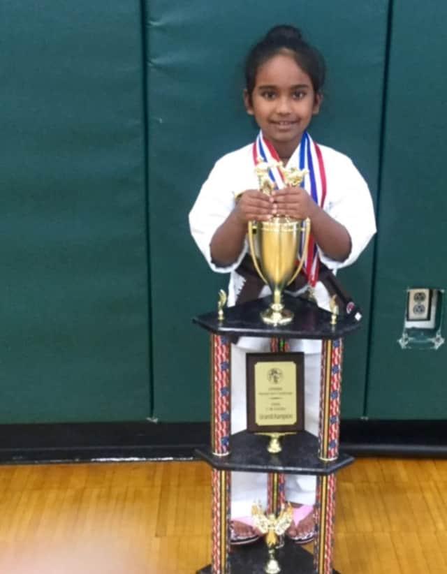 Sierra Deodhardi has already won several karate titles.