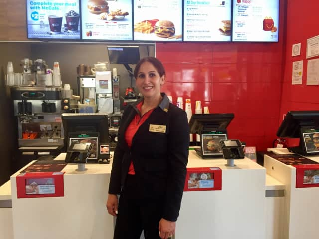 Fatima Alba of New Milford was recognized at the Bergenfield McDonald's for being named Crew Person of the Year.