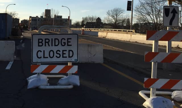 The eastbound lane of the Anderson Street Bridge in Hackensack will be closed through May.